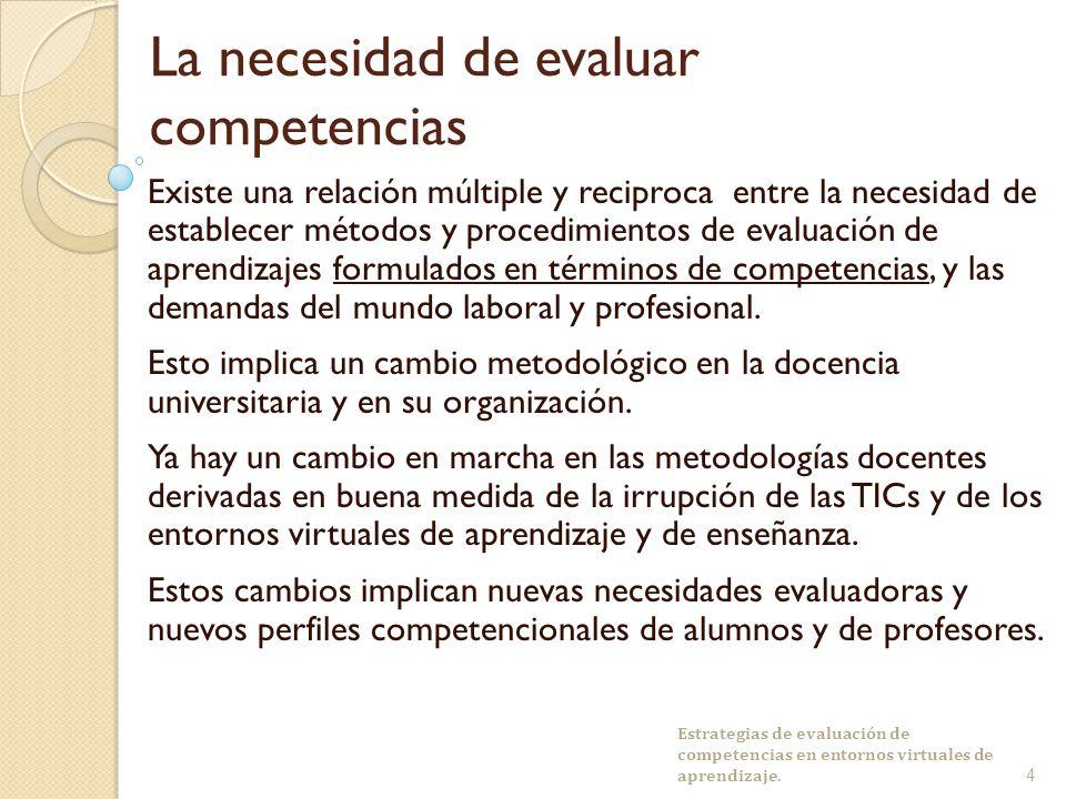 La necesidad de evaluar competencias