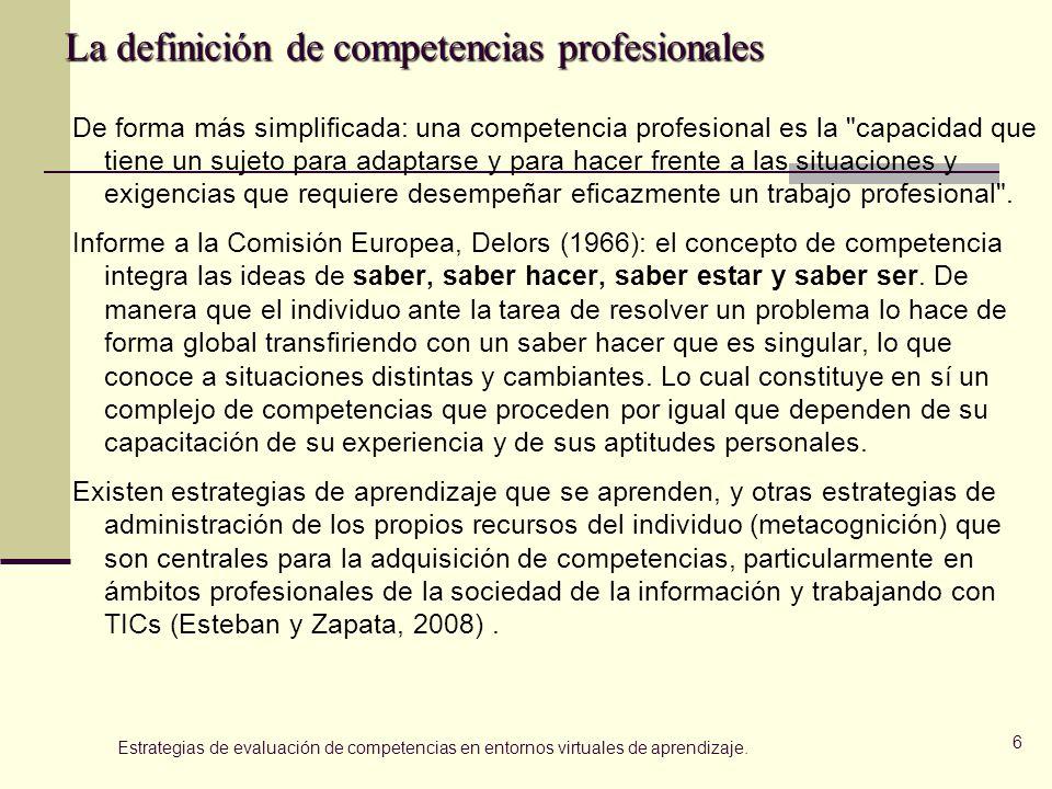 La definición de competencias profesionales