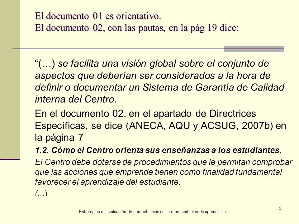 El documento 01 es orientativo