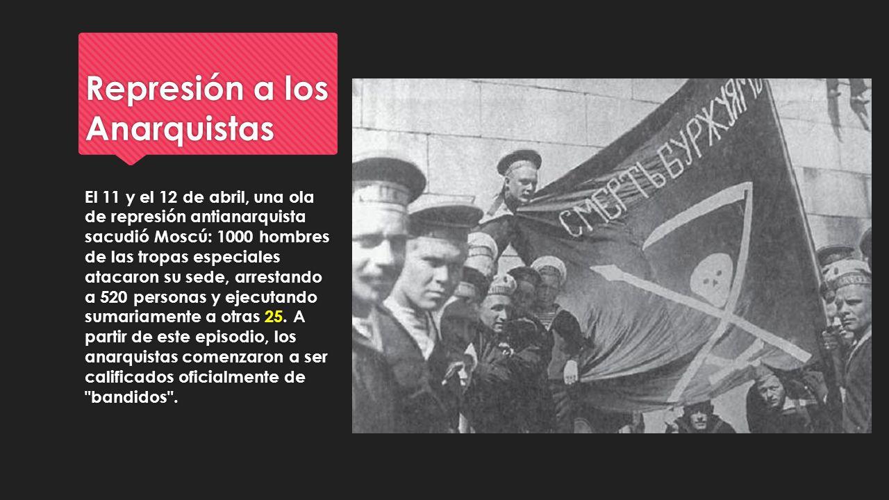 Represión a los Anarquistas