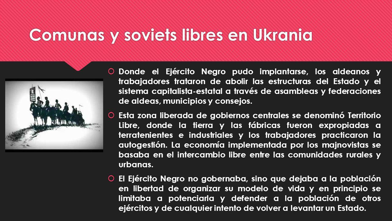 Comunas y soviets libres en Ukrania