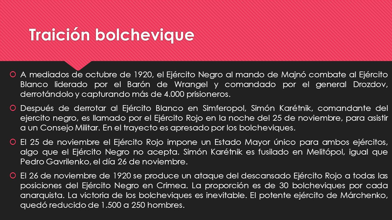 Traición bolchevique