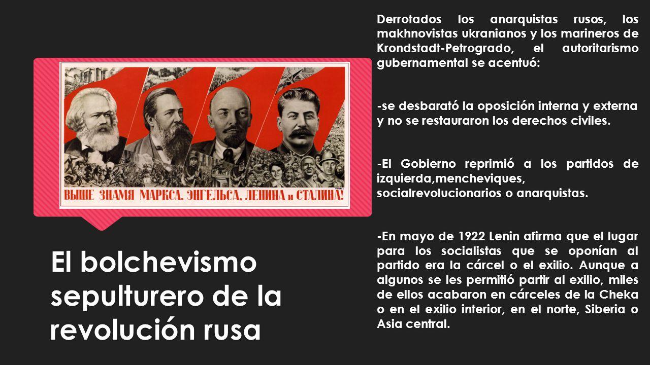 El bolchevismo sepulturero de la revolución rusa