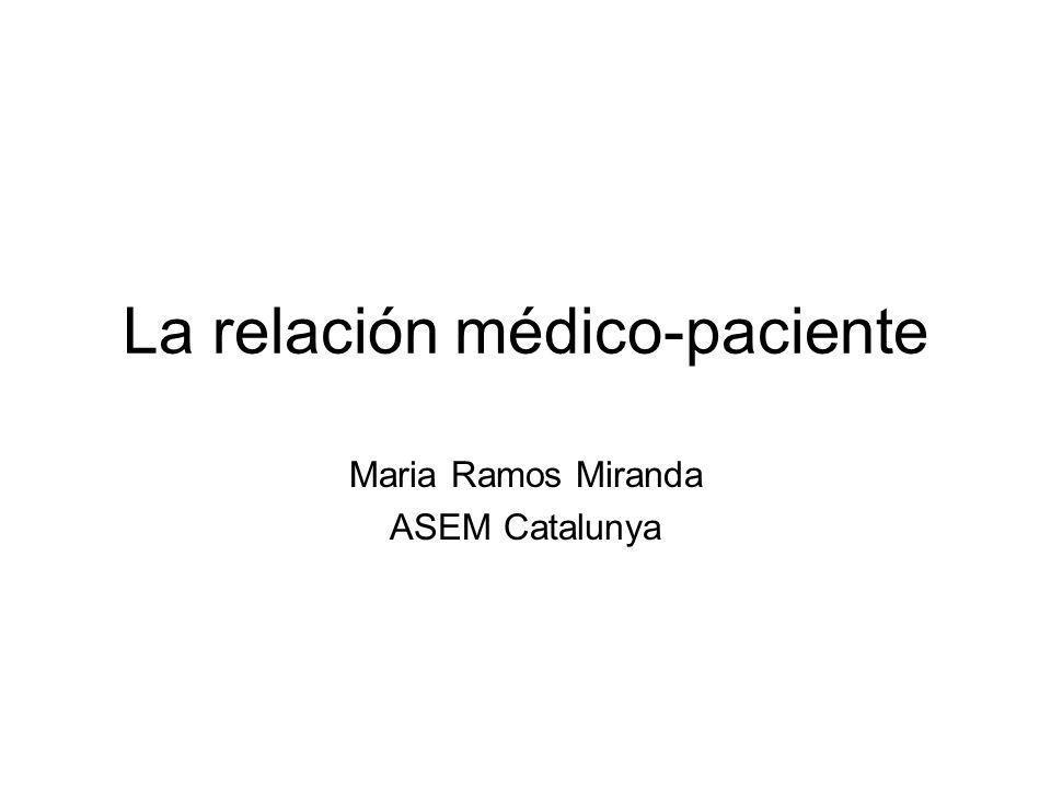 La relación médico-paciente