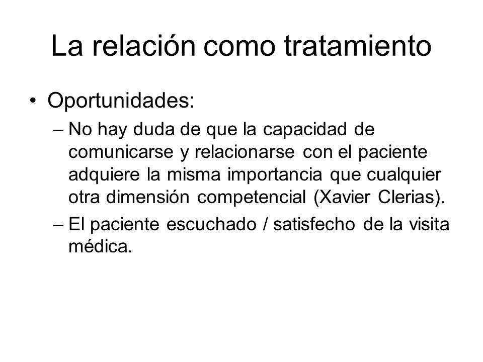 La relación como tratamiento