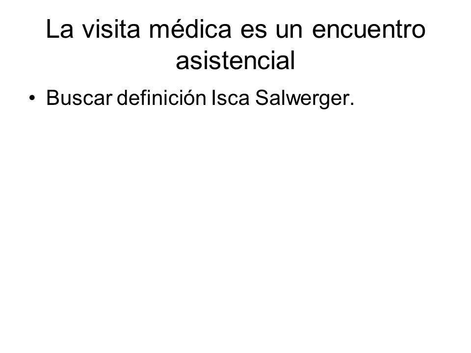 La visita médica es un encuentro asistencial