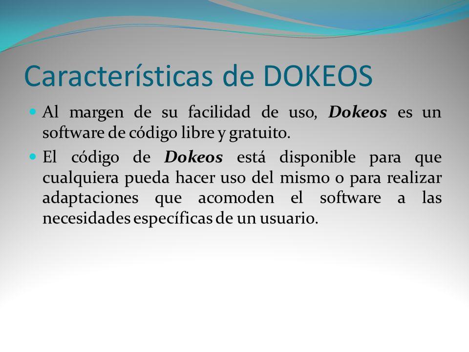 Características de DOKEOS
