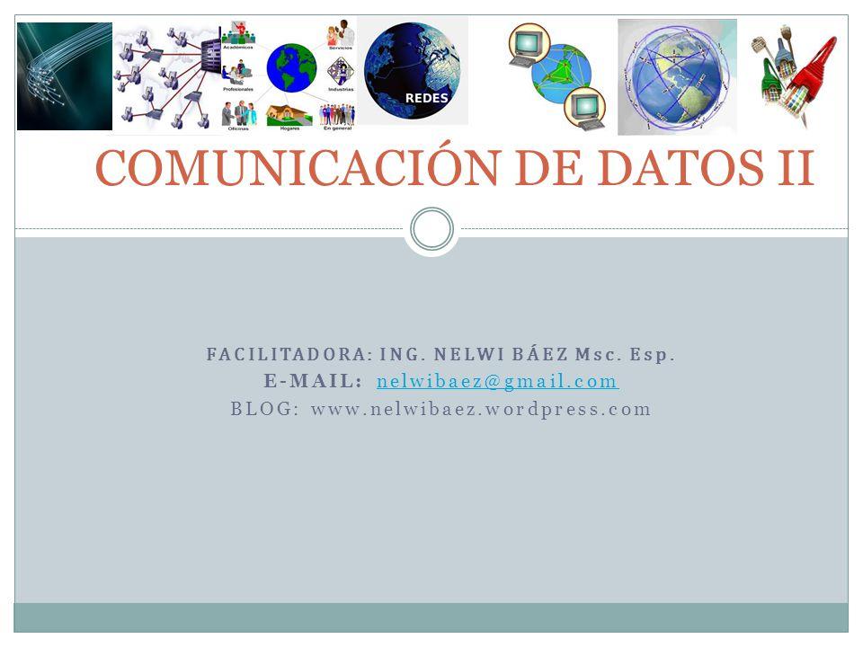 COMUNICACIÓN DE DATOS II