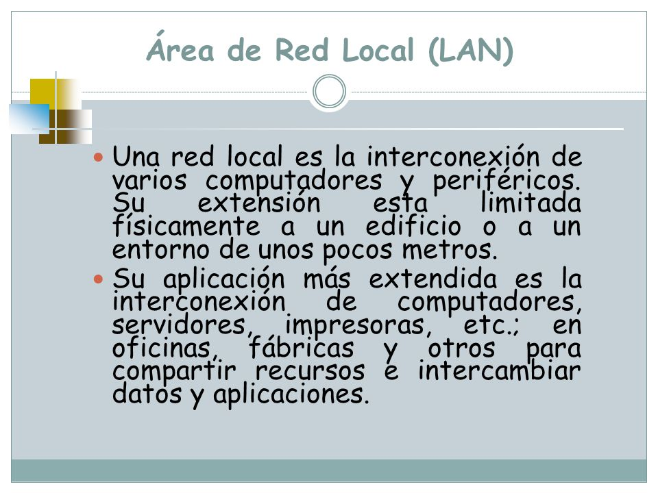 Área de Red Local (LAN)