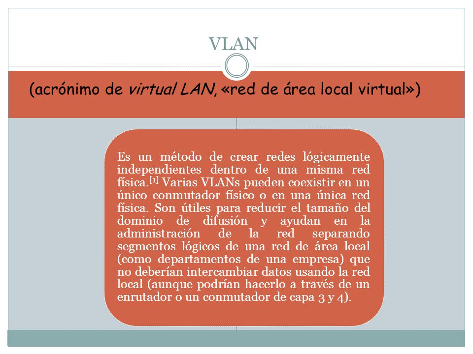 VLAN (acrónimo de virtual LAN, «red de área local virtual»)