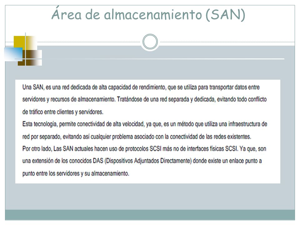 Área de almacenamiento (SAN)