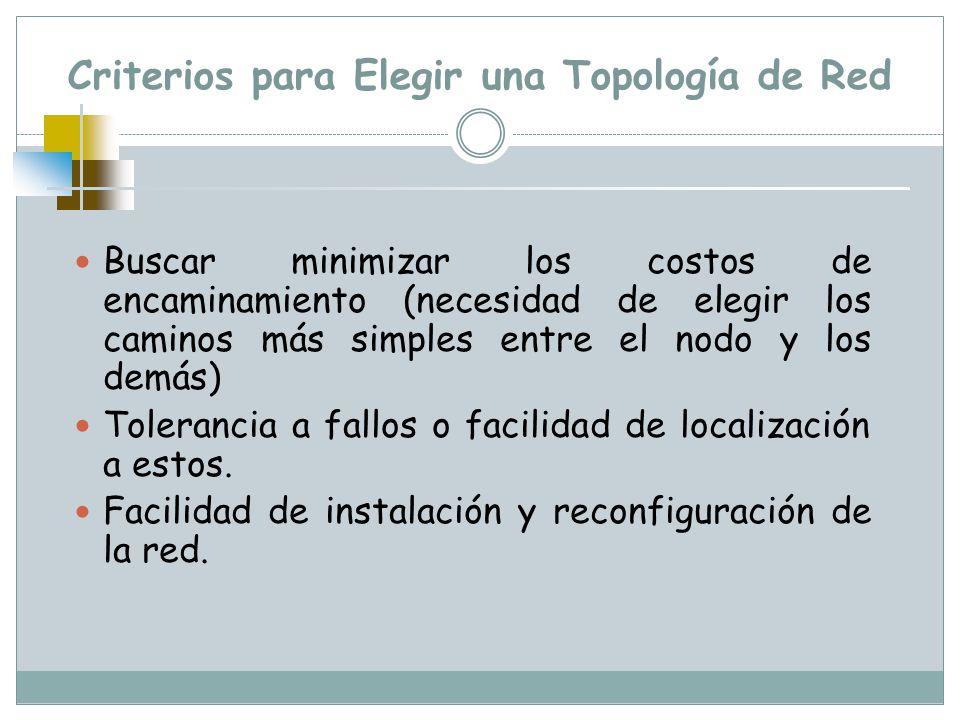 Criterios para Elegir una Topología de Red