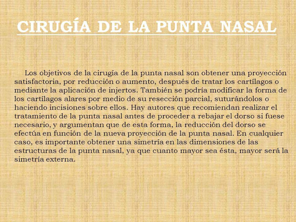 CIRUGÍA DE LA PUNTA NASAL