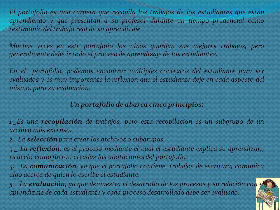 Un portafolio de abarca cinco principios: