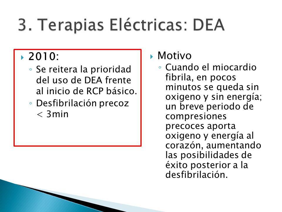 3. Terapias Eléctricas: DEA