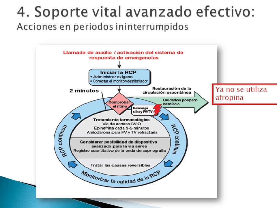 4. Soporte vital avanzado efectivo: Acciones en periodos ininterrumpidos
