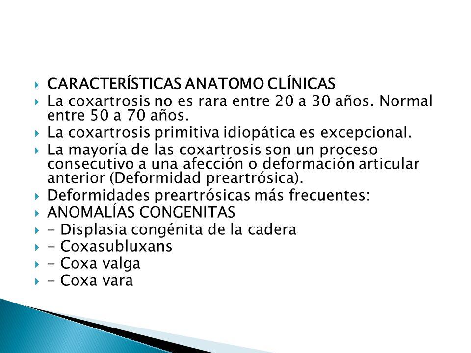 CARACTERÍSTICAS ANATOMO CLÍNICAS