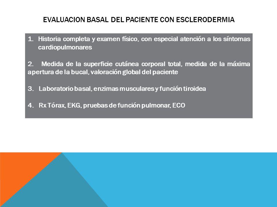 Evaluacion basal del paciente con esclerodermia