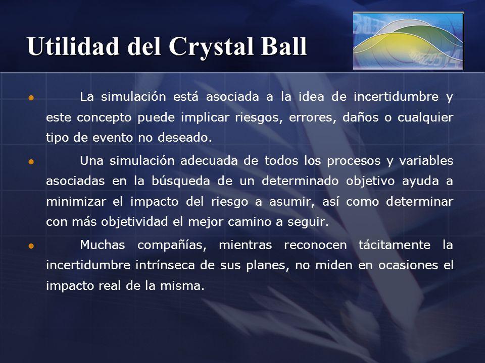 Utilidad del Crystal Ball