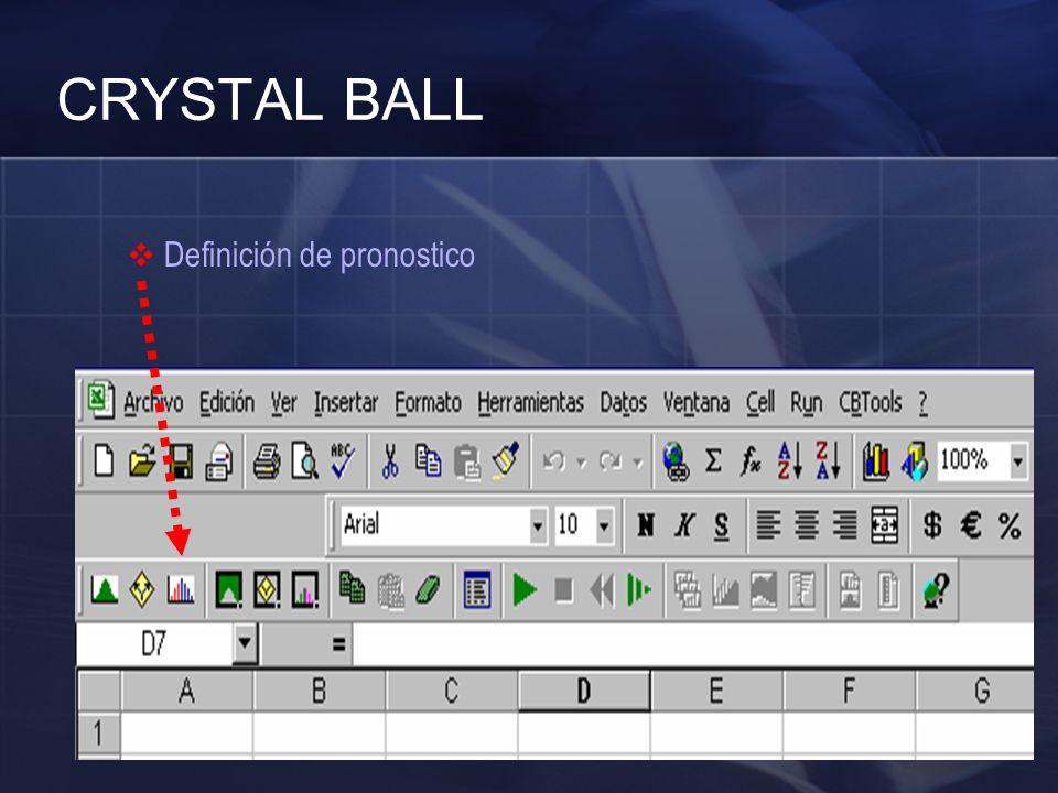 CRYSTAL BALL Definición de pronostico