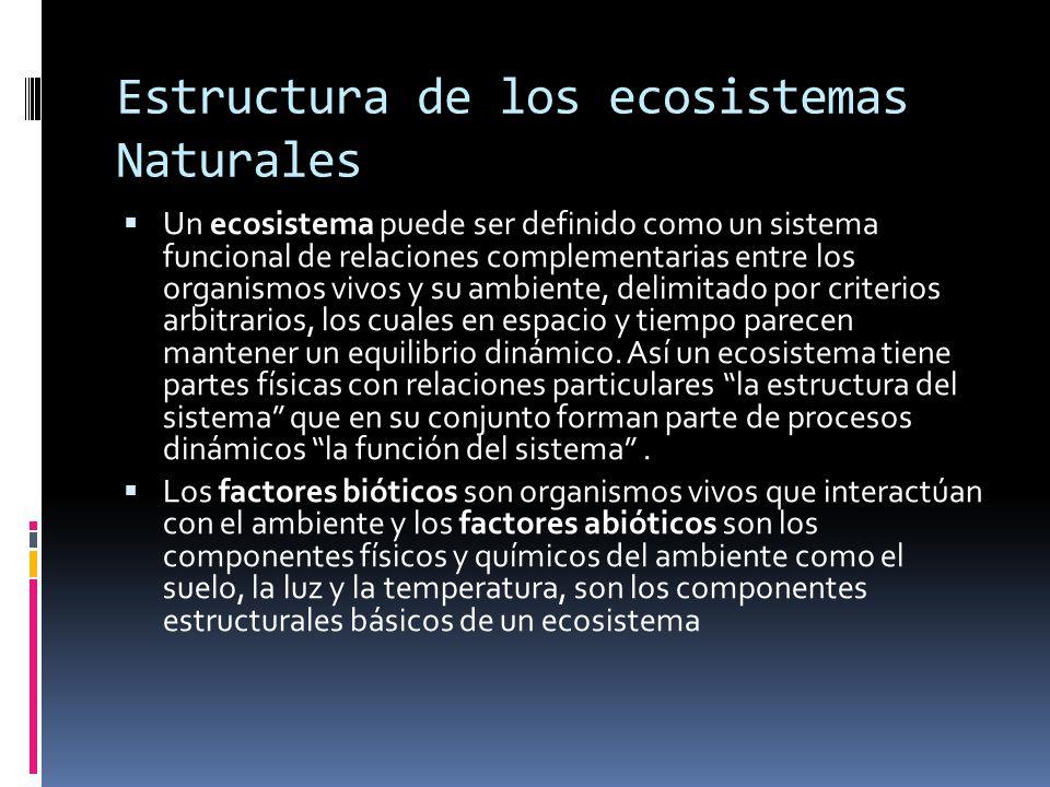 Estructura de los ecosistemas Naturales