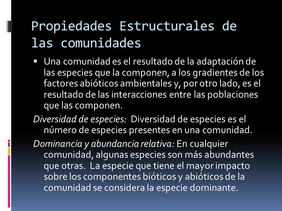Propiedades Estructurales de las comunidades