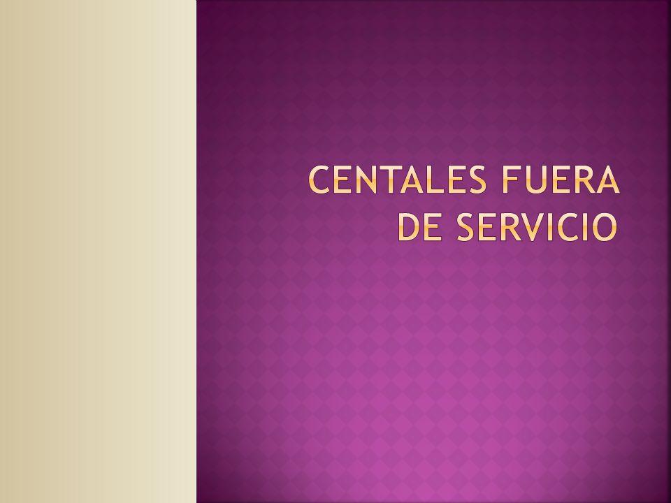 CENTALES FUERA DE SERVICIO