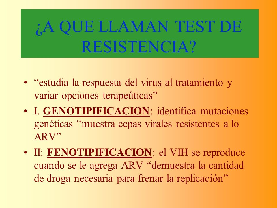 ¿A QUE LLAMAN TEST DE RESISTENCIA