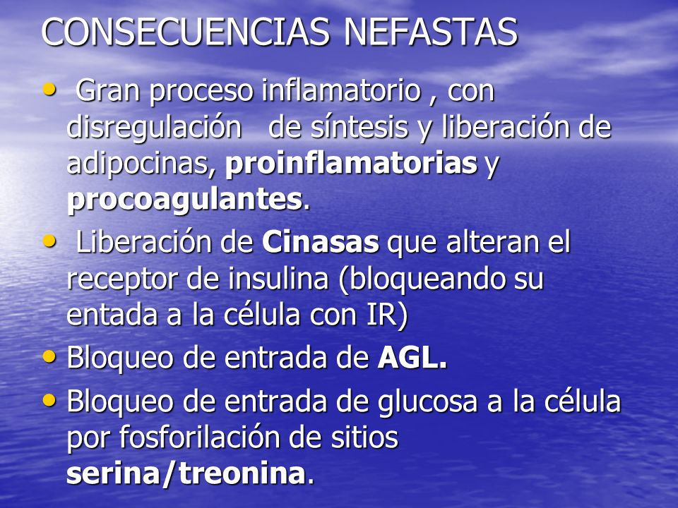 CONSECUENCIAS NEFASTAS