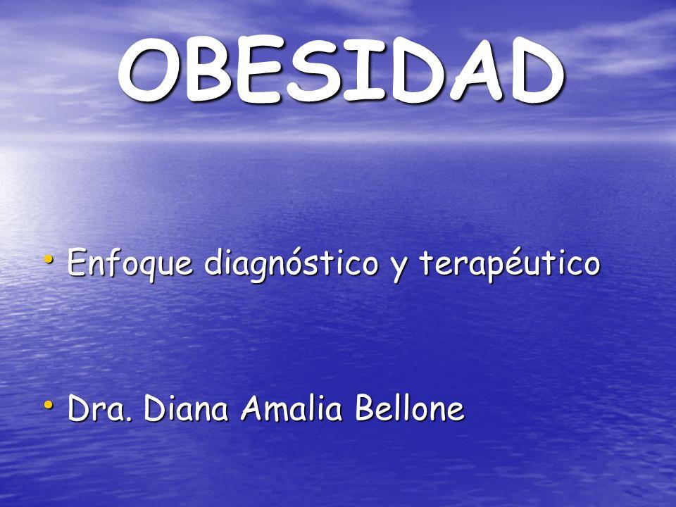 OBESIDAD Enfoque diagnóstico y terapéutico Dra. Diana Amalia Bellone