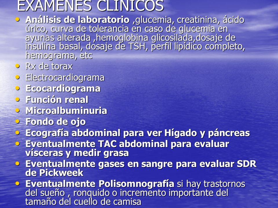 EXÁMENES CLINICOS