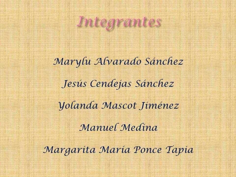 Integrantes Marylu Alvarado Sánchez Jesús Cendejas Sánchez