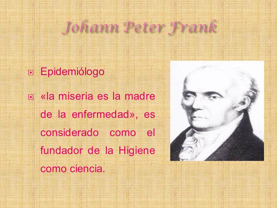 Johann Peter Frank Epidemiólogo