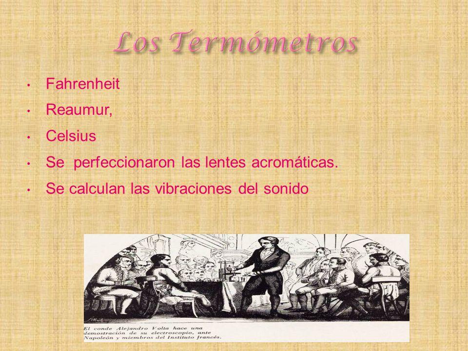 Los Termómetros Fahrenheit Reaumur, Celsius