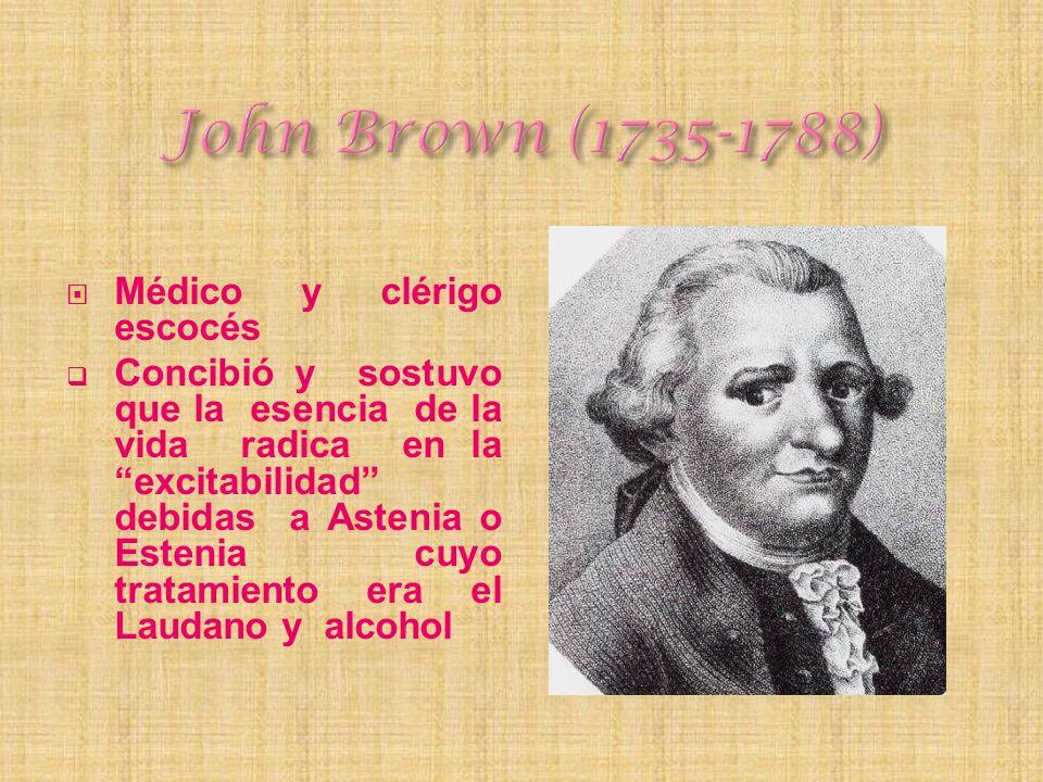 John Brown (1735-1788) Médico y clérigo escocés