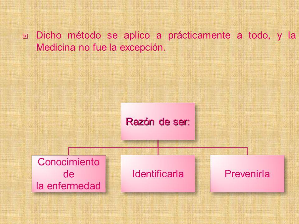 Razón de ser: Conocimiento de la enfermedad Identificarla Prevenirla