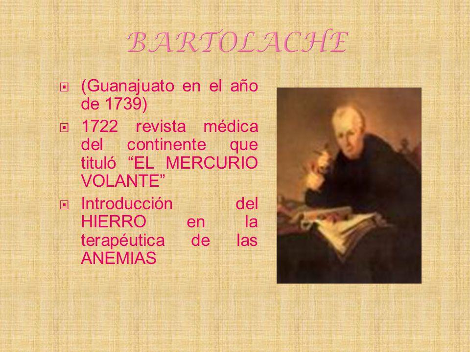 BARTOLACHE (Guanajuato en el año de 1739)
