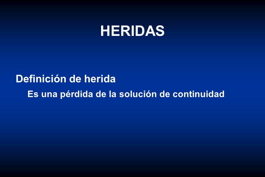 HERIDAS Definición de herida
