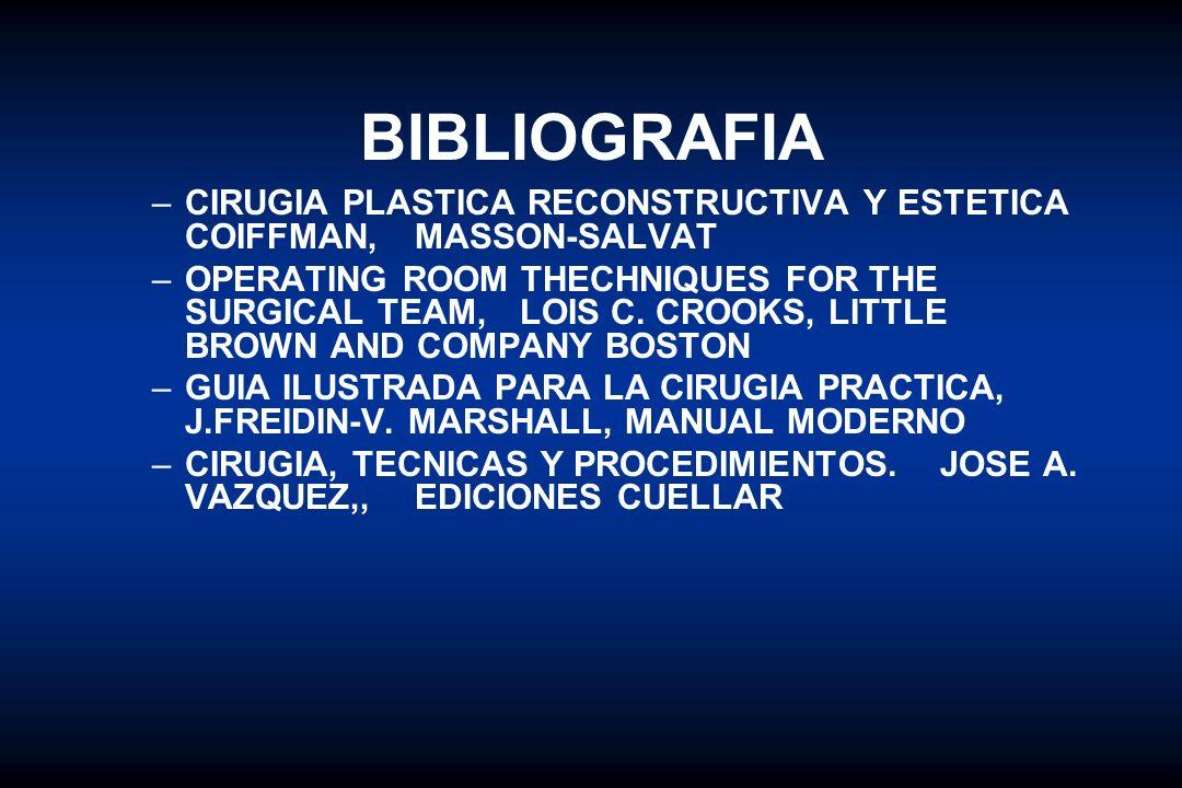 BIBLIOGRAFIA CIRUGIA PLASTICA RECONSTRUCTIVA Y ESTETICA COIFFMAN, MASSON-SALVAT.
