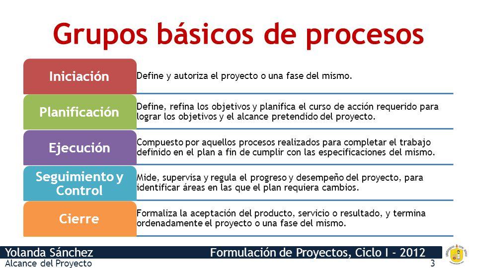 Grupos básicos de procesos