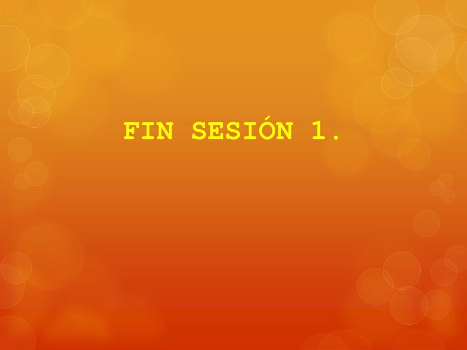 FIN SESIÓN 1.