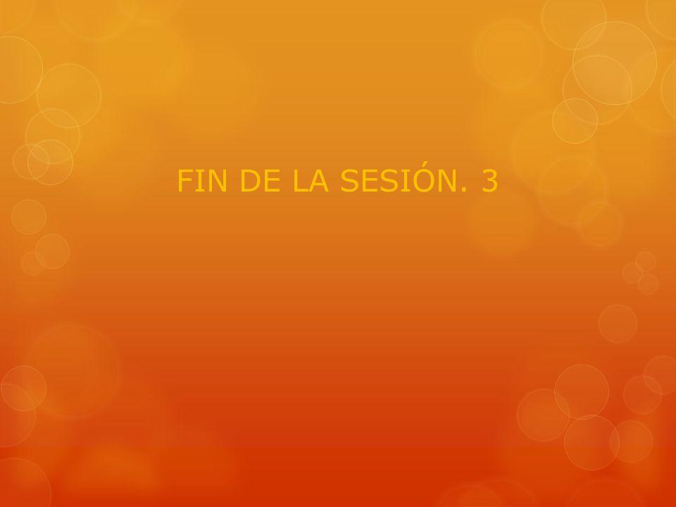 FIN DE LA SESIÓN. 3