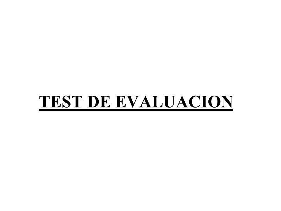 TEST DE EVALUACION