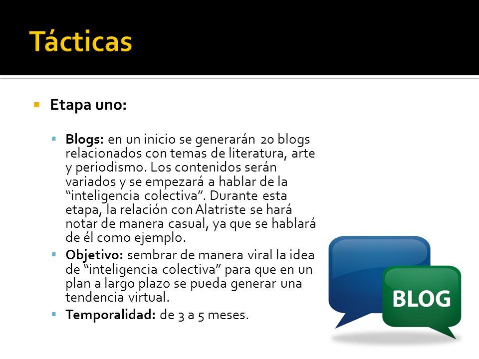 Tácticas Etapa uno: