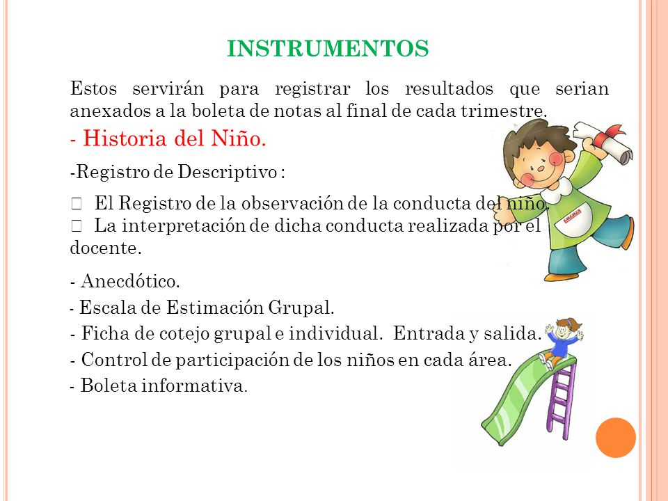 INSTRUMENTOS - Historia del Niño.