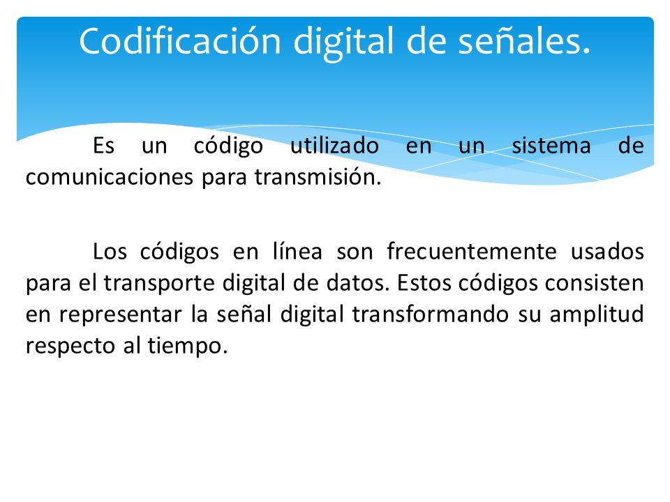 Codificación digital de señales.
