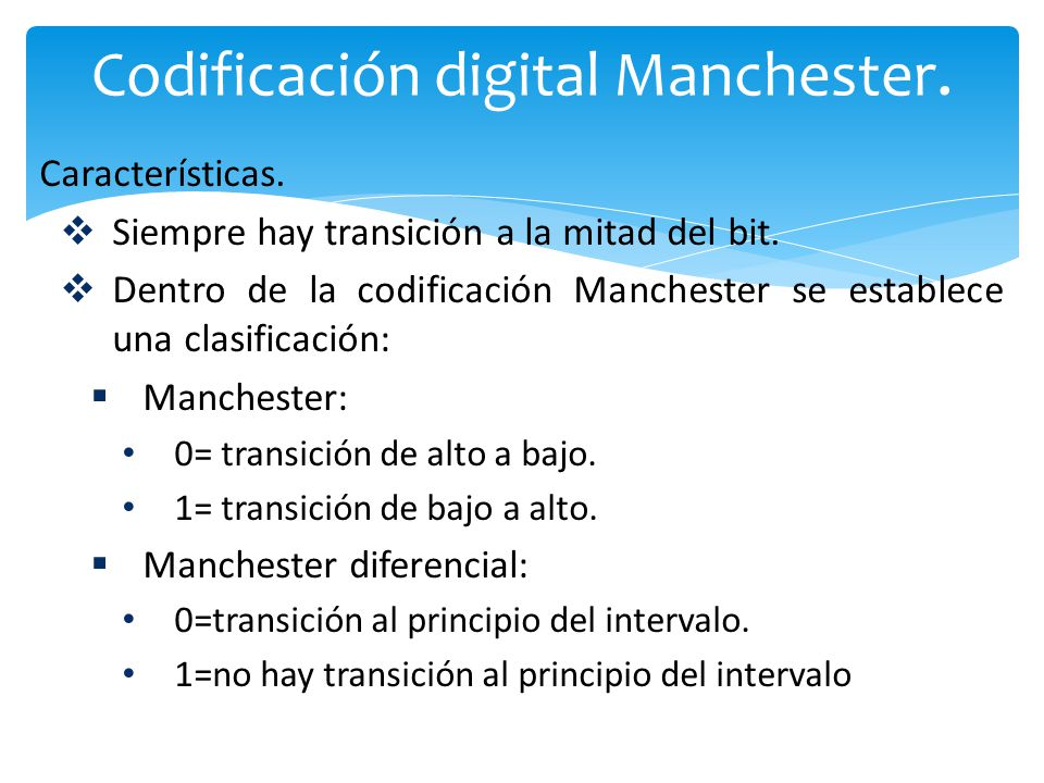 Codificación digital Manchester.