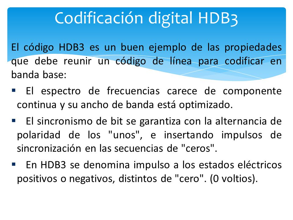 Codificación digital HDB3