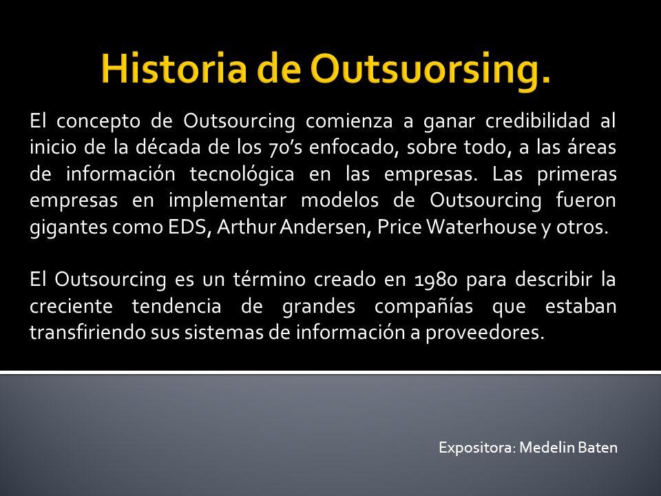 Historia de Outsuorsing.