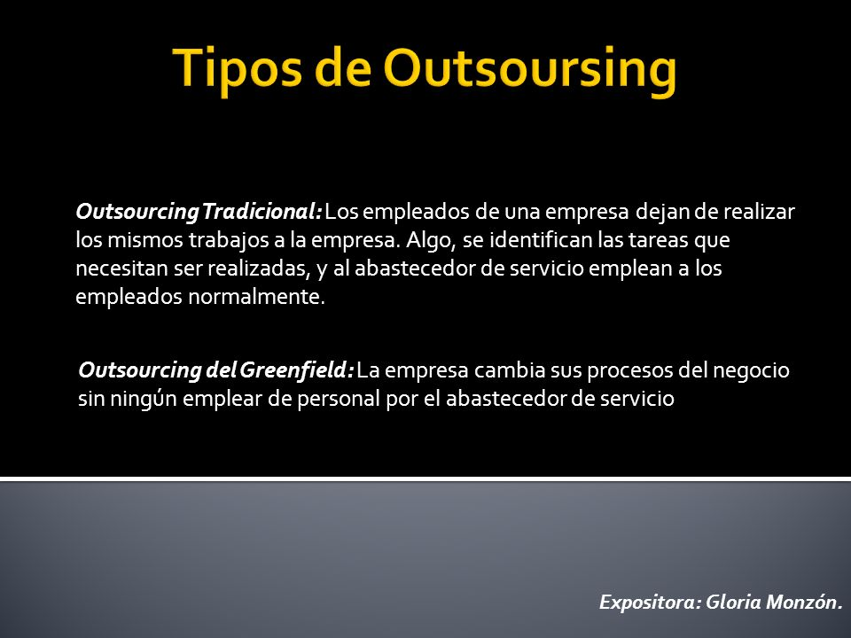 Tipos de Outsoursing